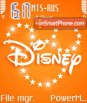 Animated Disney theme screenshot