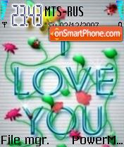 I Love You 05 theme screenshot