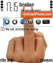 Finger es el tema de pantalla