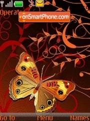 Orange Butterfly theme screenshot