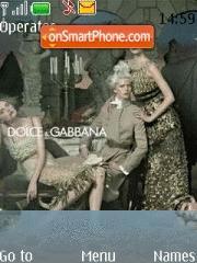 Скриншот темы Dolce And Gabbana