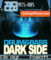 Drumbass Dark Side theme screenshot