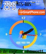 Animated Clock 03 theme screenshot