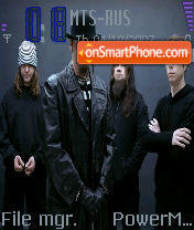 Mudvayne theme screenshot
