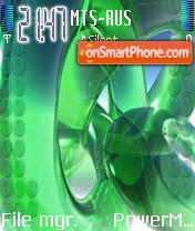 Green Violet theme screenshot
