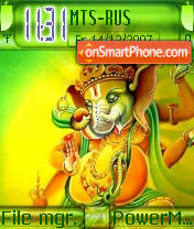 Lord Ganesh theme screenshot