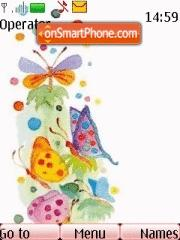Скриншот темы Butterfly Colours