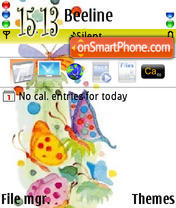 Butterfly Abstract theme screenshot