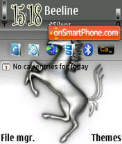 Ferrari Symbol theme screenshot