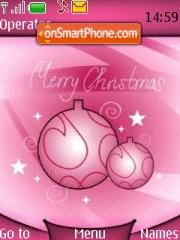 Pink Christmas theme screenshot