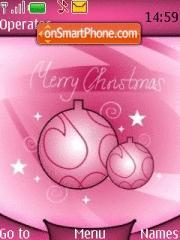 Скриншот темы Pink Christmas