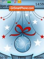 Blue Xmas theme screenshot
