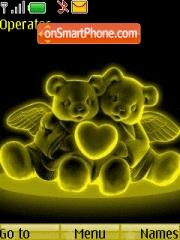 Neon Gold Love theme screenshot