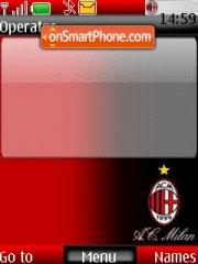 A C Milan theme screenshot