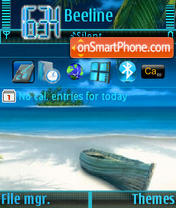 Blue Sea tema screenshot
