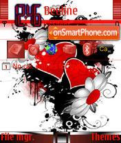 Скриншот темы Love Flower 2