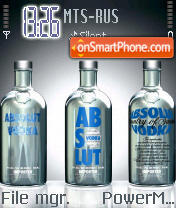 Absolut Chrome tema screenshot