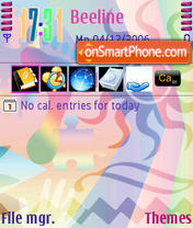 Feeling Colorful theme screenshot