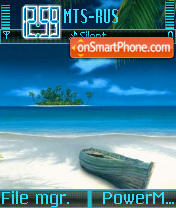 Скриншот темы Blue Sea S60