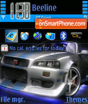 Nissan Skyline 03 theme screenshot