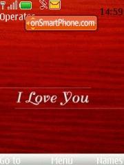 I Love U es el tema de pantalla