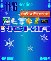 Nokia Winter theme screenshot