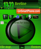 Green Music Player theme screenshot
