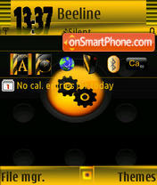 Black System theme screenshot