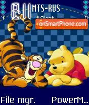 Pooh Friend theme screenshot