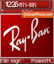 Ray Ban theme screenshot