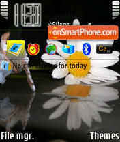Скриншот темы Miss U Flower
