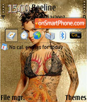 Body Tatoo QVGA theme screenshot