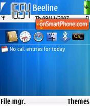 Скриншот темы Saphire Blue
