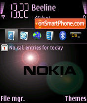 Nokia Theme theme screenshot
