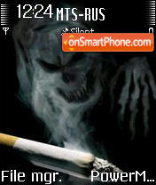 Smoking Is Death theme screenshot