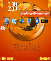 Firefox Luminosity tema screenshot