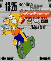 Скриншот темы Skate Bart 320x240