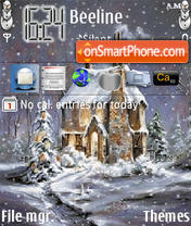 Snow Xmas theme screenshot