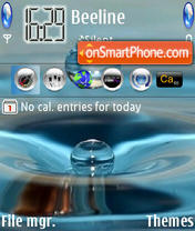Water Drop theme screenshot