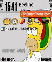 Rasta Gomer 320x240 theme screenshot
