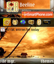 Orange Palms tema screenshot