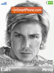 David Beckham theme screenshot