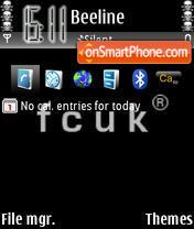 Capture d'écran Fcuk Black thème
