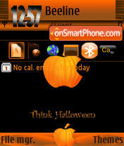 Think Halloween S60v3 theme screenshot