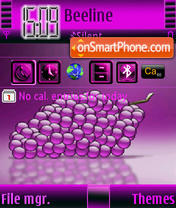 Grapes S60v3 tema screenshot