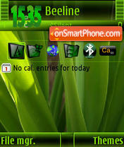 Vista Green Ver3 S60v3 theme screenshot