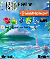 Girl In Water theme screenshot