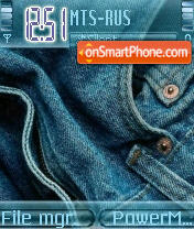 Denim Jeans theme screenshot