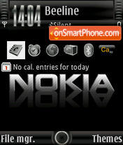 Black Nokia theme screenshot