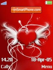 Red Abstract Heart theme screenshot